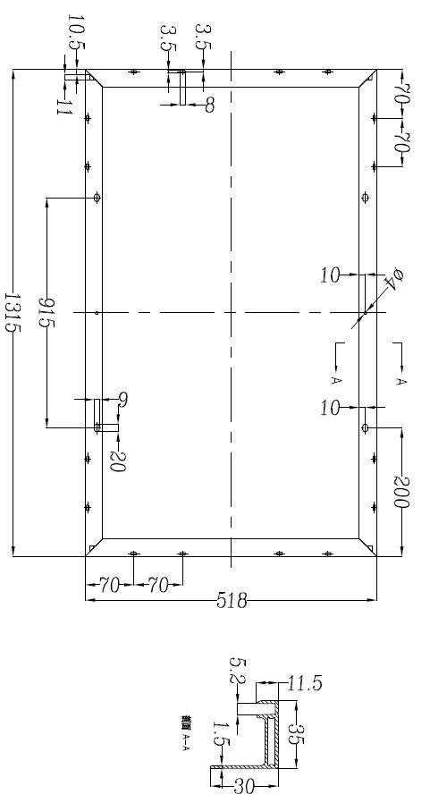 dimensions 100W solar module long