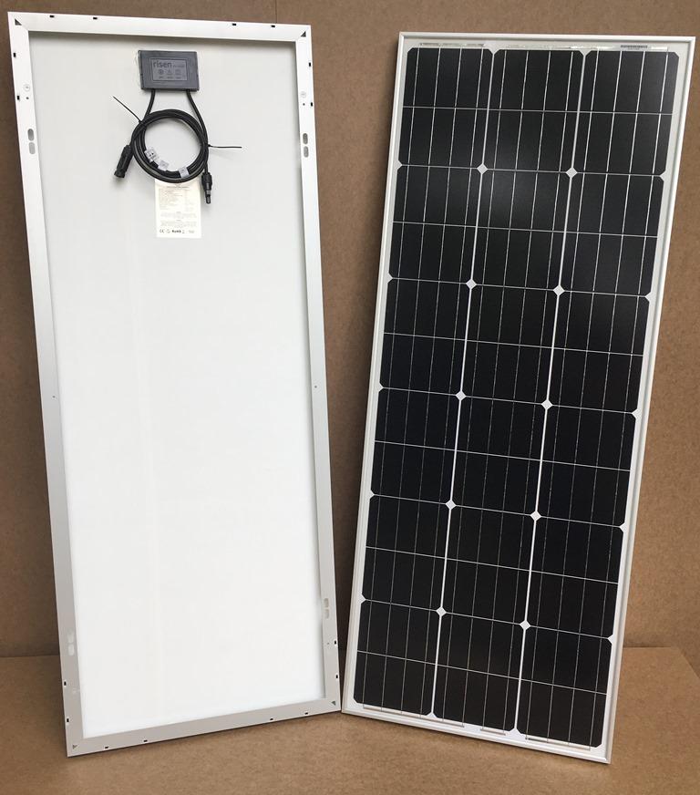 100Wp/12V solcelle PV-100-M-36S, monokrystallinsk, 4 Bus Bars Aflang model