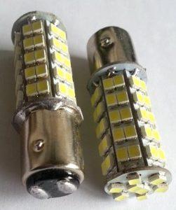 2 x Auto LED pære BA15d til bremse/positions lys
