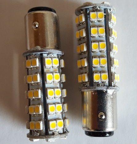 2 x Auto LED bulb BA15d for brake / position light