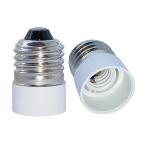 Sokkel Adapter E27 til E14 - Hvid