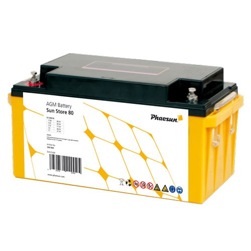 Phaesun 12V AGM batterier Sun Store ( 65-200Ah)