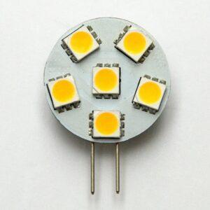 6 SMD LED G4 SPOT/1,0W-Varm/Hvid Type PA