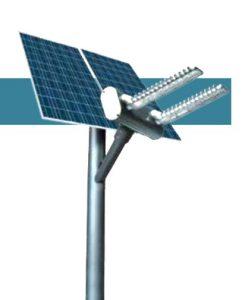 Solcelle gadelampe med ledlys IG4 zone