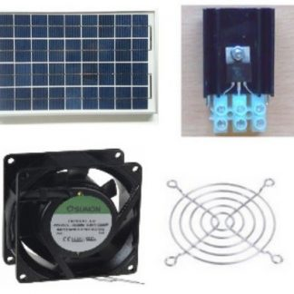 -Ventilations kit med solcelle (SOLCELLE og VENTILATOR) KCVM10 /2 ventilatorer 1