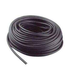 Kabel H07 RN-F 2 x 1 mm², sort, fleksibel