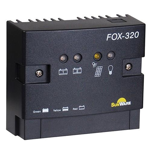 Solar Charge Controller Sunware FOX-320 , Dual 20A/12V, 24V