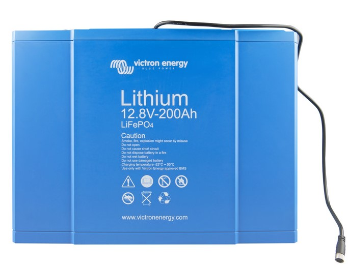 Victron Energy LiFePO4 Lithium Batteri 12,8V/200Ah - BMS