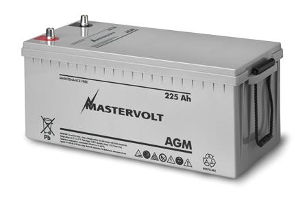 Mastervolt 6-12V AGM batterier (55-400Ah)