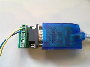 USB Adapter Serial RS485 RS422 til Ginlong Inverter