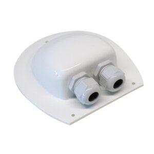 Kabel gennemføring til campingvogn, flad tag, 1- 2 indgange, sort eller hvid