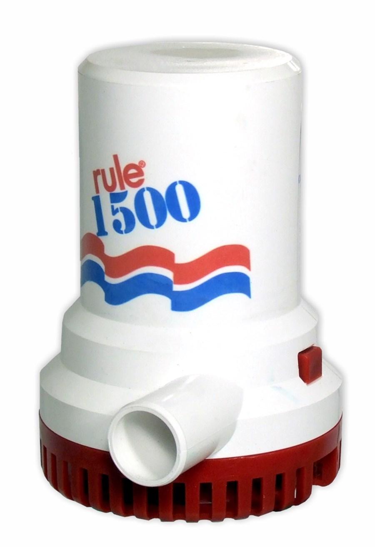 Rule 1500 lænse / dykpumpe, 12-24VDC, 95l/min