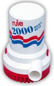 Rule 2000 Bilge pump, 12-24VDC, 120l/min