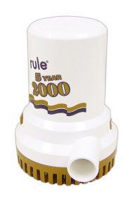 Rule 2000 lænse / dykpumpe, 12-24VDC, 120l/min