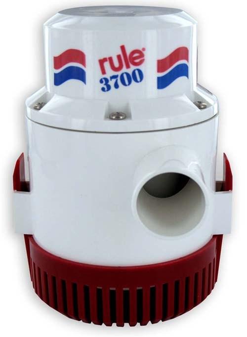 Rule 3700 lænse / dykpumpe, 12-24VDC, 220l/min
