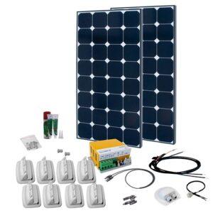 Solcelleanlæg til campingvogn SPR Solar Peak 9.1, 200W/12V