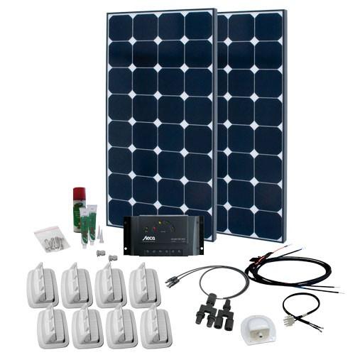 Solcelleanlæg til campingvogn SPR Solar Peak 3.5, 200W/12V