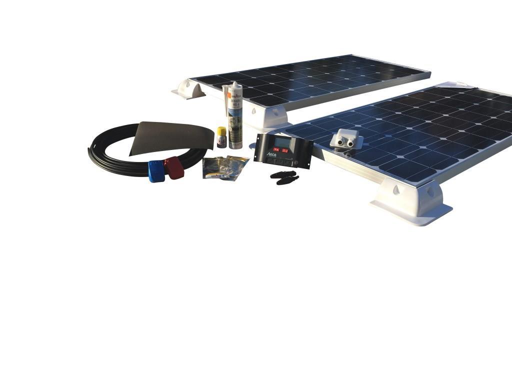 200Watt Solcelleanlæg til campingvogn - Komfort 12V