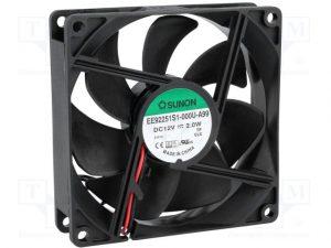 Sunon Ventilator 24V DC 90x90x25/2,1W