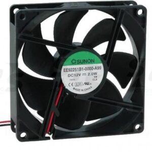 Sunon fan 12V DC 92x92x25/2,0W