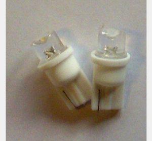 2 x T10 LED pære 0,125W- 12V, varm/hvid