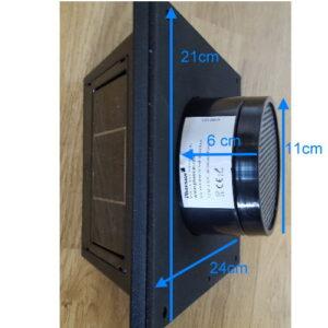 Solar Ventilations- Kit Fresh Breeze Black
