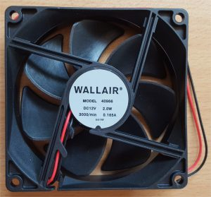 Wallair AKSIALVENTILATOR 12V, 2W , 92X92X25