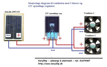 12V Spændings regulator til ventilatorer