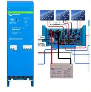 Victron Inverter-lader-soloplader EasySolar 12V batt. 1600W 70A, 50A solceller