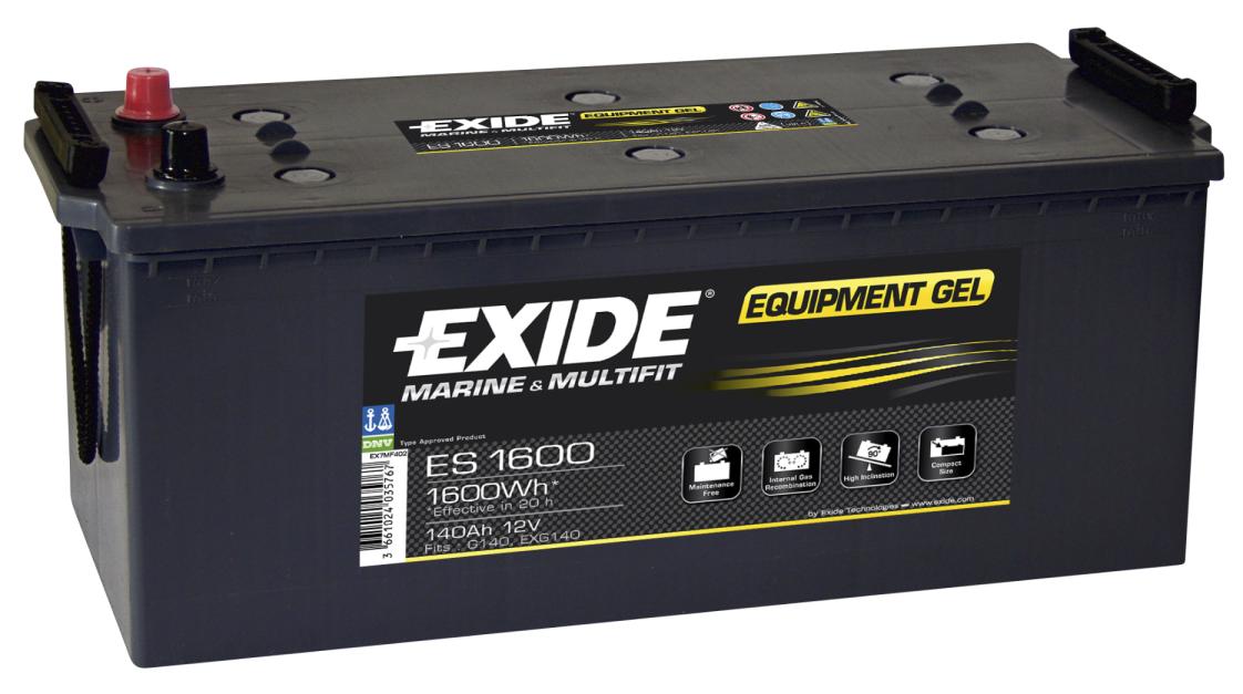 Exide ES1600 - GEL batteri, 140Ah/12V