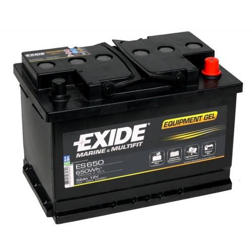 Exide EQUIPMENT Gel Batteri ES650 12V 56Ah