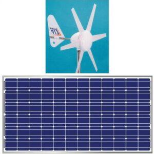 Hybrid 12V OFF grid, 100W Solar PV & Rutland 914