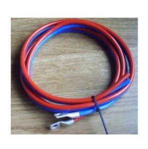 Batterikabel 2 x 6mm² - 1,5m, rød/sort