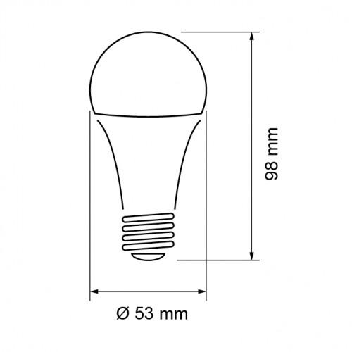 LED pære 8W, E27, 4200K, neutral lys