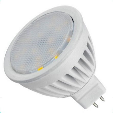 12V / 4W SMD LED Bulb MR16 socket warm / white