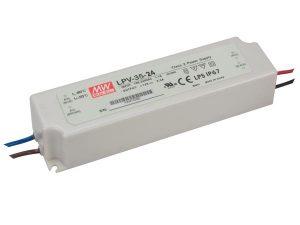 LED strømforsyning Mean Well LPV-35, 5V,12V, 15V, 24V, 36V