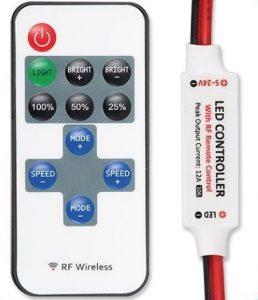 RF LED Light Dimmer - Multifunktion 12VDC/ 5A - Trådløs
