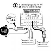 PWM Strøm styring 9-28 V / DC, max. 10A M171