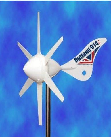Hybrid 12V anlæg, 100W solcelle og Rutland 914 vindmølle