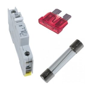 Fuses, circuit breakers, glass fuses