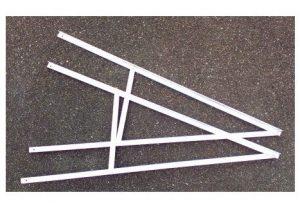 SMS90 - Monterings beslag til solceller - Aluminium