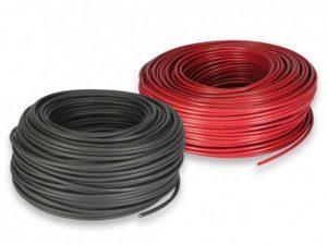 Solar kabel 4mm2, 1-led - sort eller rød