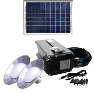 Solar PV system 5-55W for boat, caravan, cottage