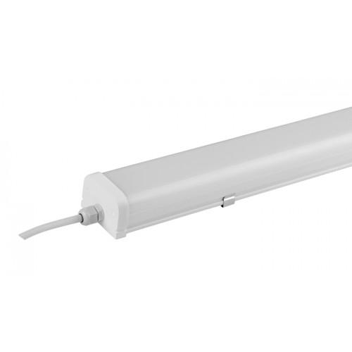 LED armatur, 36W, 120cm, 6000K, IP65, Hvid