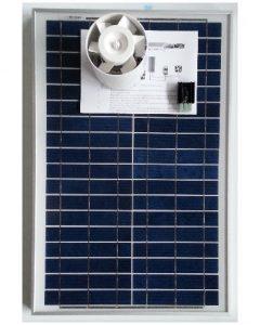 Ventilation kit with solar module KCVR20