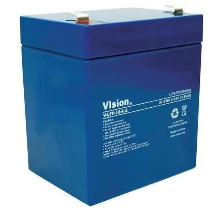 Lithium Battery Vision LFP124.5 T, 12V 4,5Ah