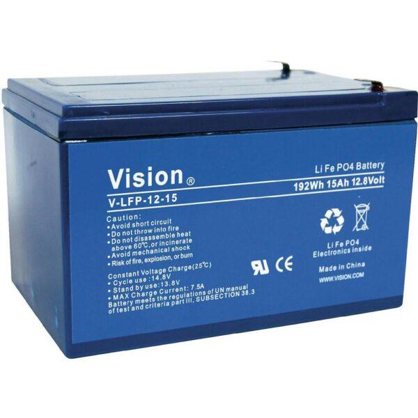 Lithium Battery Vision LFP1215, 12V 15Ah