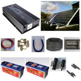 Solar OFF-Grid systems, 60-300W for battery operation