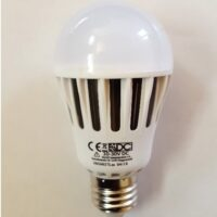 LED Bulb E27, 12V 24V, 12Watt, warm white