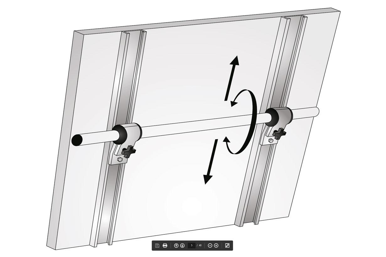 Solar Bracket for boat, sailboat railing & pulpit